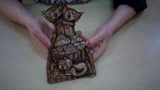 Сувенир кошки (Семья)   Лепка из соленого теста 2 часть