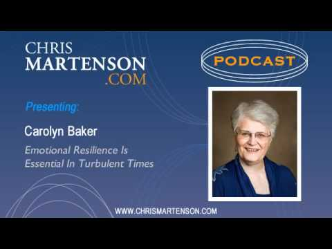 Carolyn Baker: Emotional Resilience Is Essential In Turbulent Times