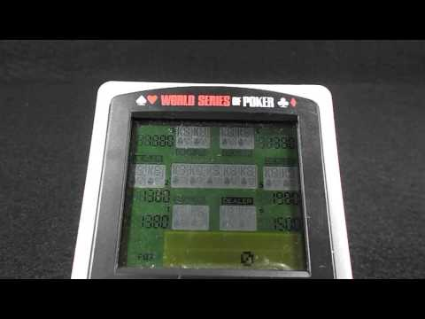 Excalibur World Series of Poker Texas Hold Em Electronic Handheld Pocket Game
