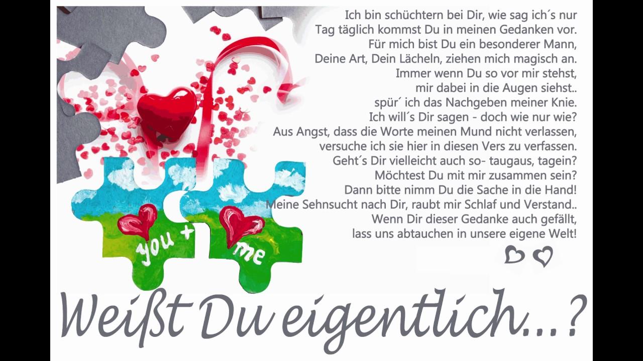 Heimlich Verliebt Grußkarte Als Gedicht Liebeserklärung Auch Zum  Valentinstag