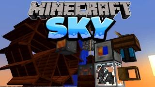 Ich produziere Strom mit Wasserrädern! - Minecraft SKY Folge #07