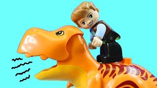 Lego Duplo Jurassic World T-Rex Tower Dinosaur Visits The Gentle Giants Petting Zoo
