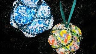 DIY Яркие новогодние шары из бумажных цветов своими руками. Мастер класс