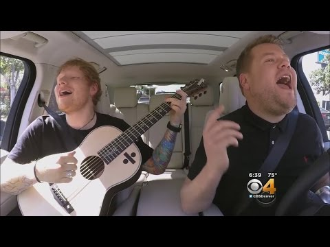 Ed Sheeran Touches James Corden's Chest During 'Carpool Karaoke'