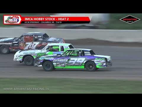 Hobby Stock Heats/SLMR B Features - US 30 Speedway - 7/4/19