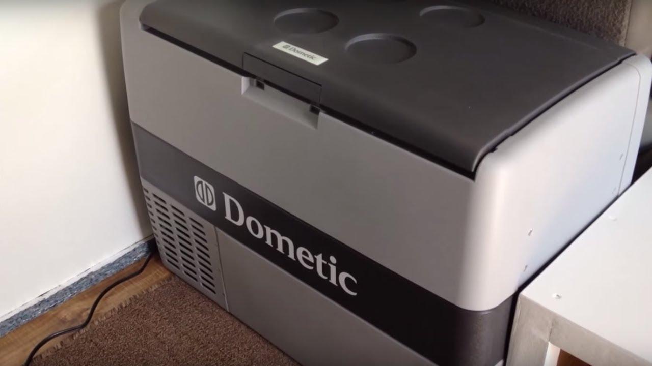 DIY Camper Van Conversion Life Dometic CF 50 Refrigerator Battery And 100W Solar Panel