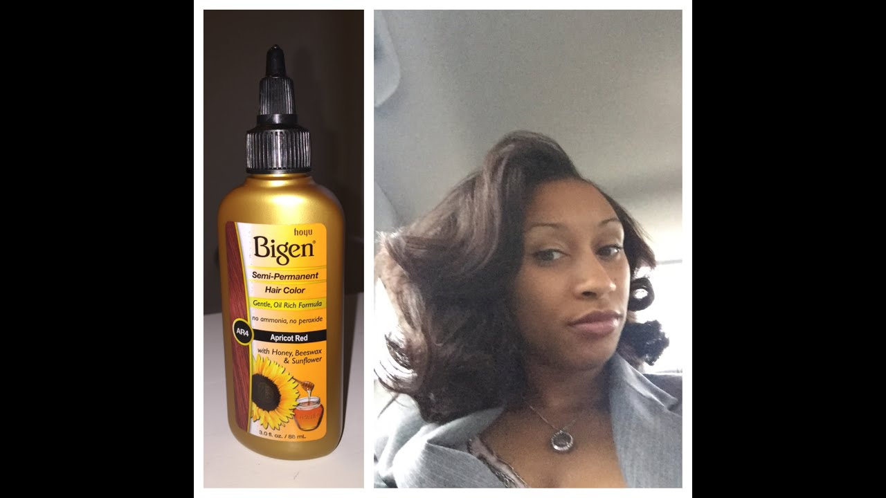 Lashawn Reviews Bigen Semi Permanent Hair Color In Apricot Red Youtube