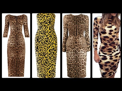 Gorgeous Leopard Print Slim Fit Bodycon Dresses Styles And Ideas (2019-2020)