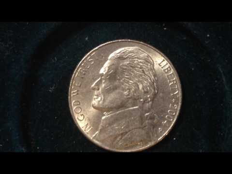 2004 P Lewis and Clark Nickel (Mintage 367 Million)