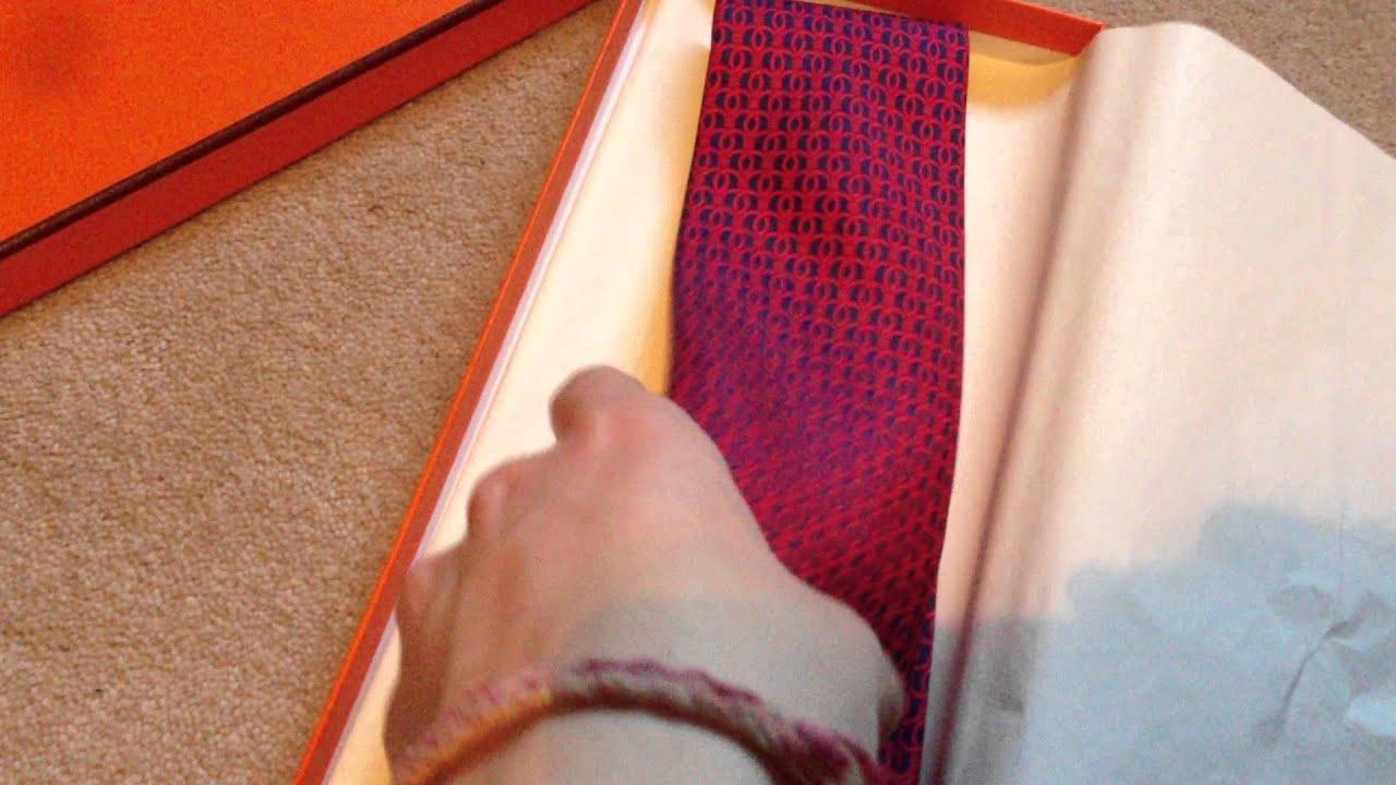 red and black handbags - Hermes Tie unboxing- Men's Hermes Silk tie unboxing and overview ...