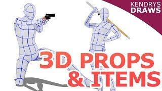 3D props & items- Clip Studio Paint & sketch up