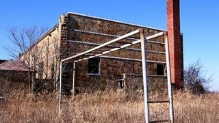 Abandoned WPA school in ghost town of Grayhorse, Oklahoma