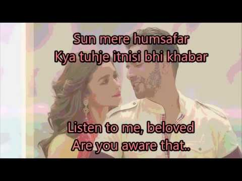 Humsafar Lyrics with English Translation | Full Song | Badrinath Ki Dulhania (2017) | Akhil Sachdeva