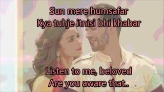 Baixar Humsafar Lyrics with English Translation | Full Song | Badrinath Ki Dulhania (2017) | Akhil Sachdeva