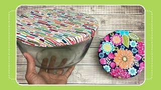 How to Sew a Reusable Fabric Bowl Cover with Crafty Gemini
