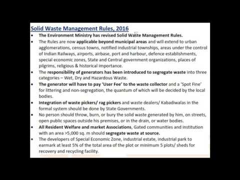 Environment Topic 17 (Preliminary 2017) Solid Waste management Rules 2016