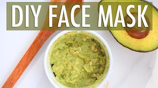 1 Minute Avocado Face Mask Face Mask for Glowing Skin