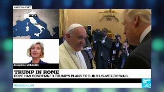 Trump meets Pope Francis at Vatican   Very different worlds coming together here!