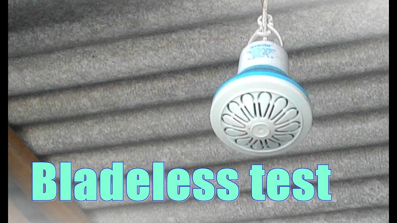 Sivi mini ceiling fan bladeless test