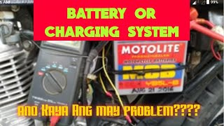 Battery or charging system problem Ng motor