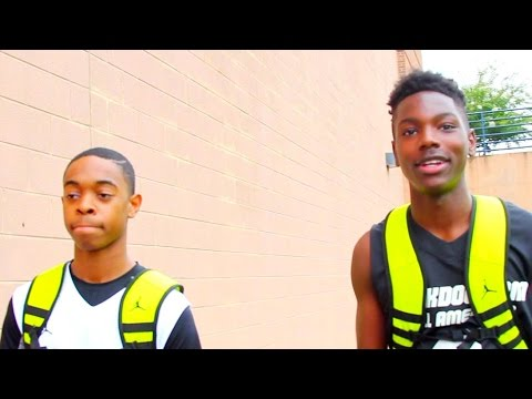 Damon Harge vs Elijah Hardy at CP3 Camp and Dunk Dog All American Game