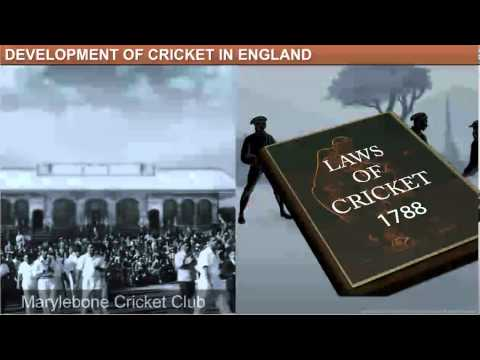 a history of cricket