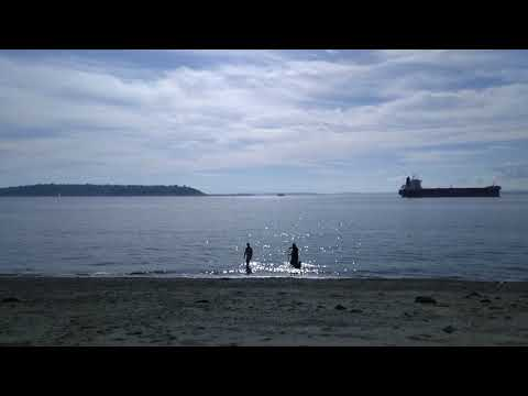 First swimming in the Puget Sound, Pacific Ocean, Seattle WA 015