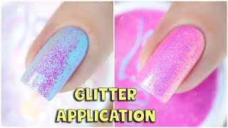 HOW TO APPLY GLITTER THINLY & EVENLY - No More Chunky Nails!