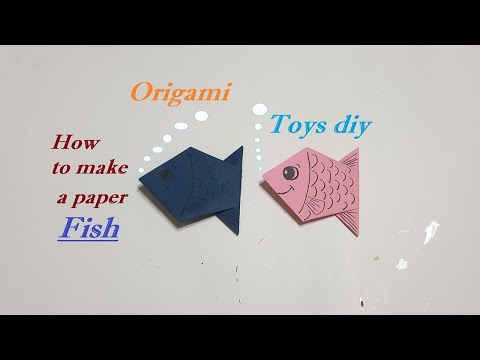 Origami , how to make a paper Fish TOYS DIY