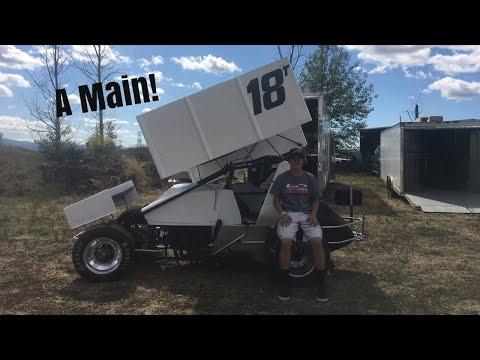 Southern Oregon Speedway Sprint Car A Main (Part 1)