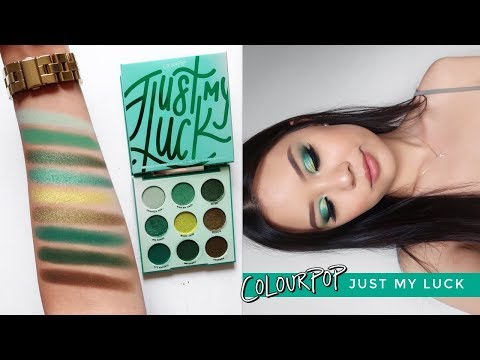 COLOURPOP JUST MY LUCK EYESHADOW PALETTE ⋆ 3 Looks, Review + Swatches!