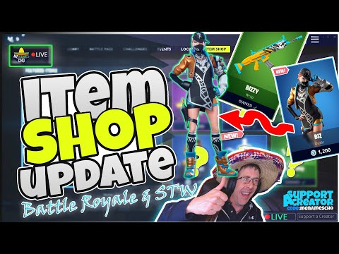 🆕menamescho's-live-🔵-roughneck-set-🤠-item-shop-update---fortnite-battle-royale-22nd-june-2019