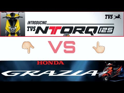 Tvs Ntorq 125 VS Honda Grazia 125 (2018).कौन सी है बैहतर ।Auto Gyann