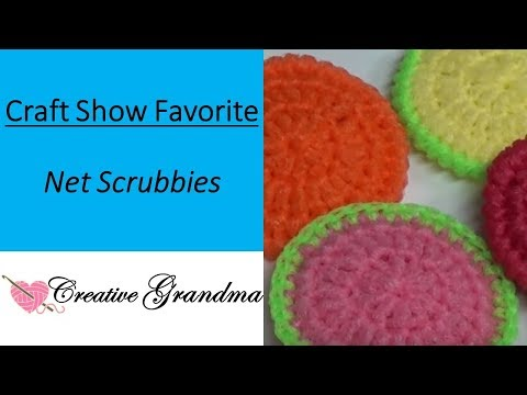 How to Crochet A Dish Scrubby (Craft Show Favorite)