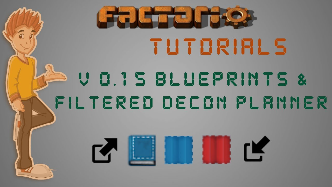 Importing / Exporting Blueprints & Filtered Deconstruction Planner -  Factorio Tutorial V 0 15 by Xterminator