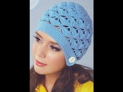 Летняя вязаная шапочка для женщины крючком