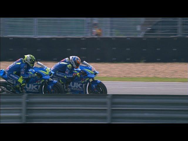 Suzuki in action: 2018 PTT Thailand Grand Prix