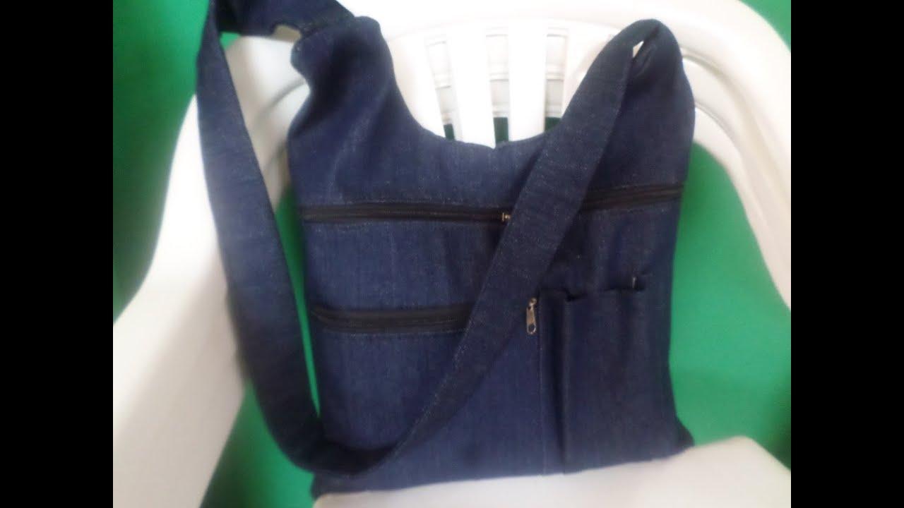 Bolsa De Tecido E Jeans : Bolsa tiracolo simples