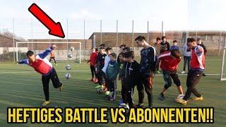 Extremes FUSSBALL Trickschuss & Panna Battle VS Abonnenten!!