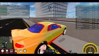 Premiere video sur roblox Véhicule simulator