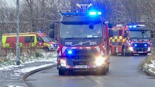 *SNOW* Ashton's Pump + Technical Response Unit Turnout - Greater Manchester Fire & Rescue Service