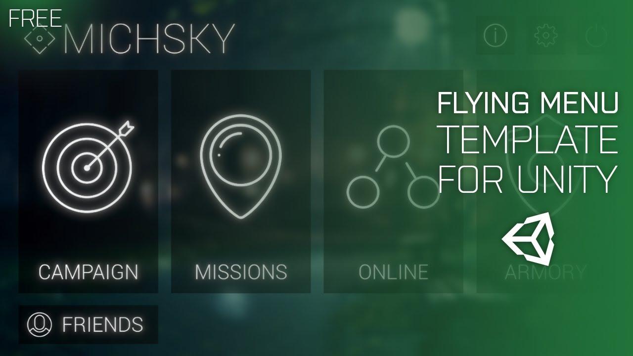 Unity - Flying Menu v1 2 (Free Menu Asset) [OUTDATED]