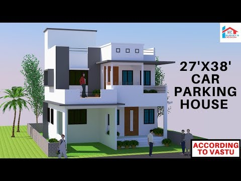 Repeat [#17] 24'x36' Modern East Facing House With Car Parking || RK