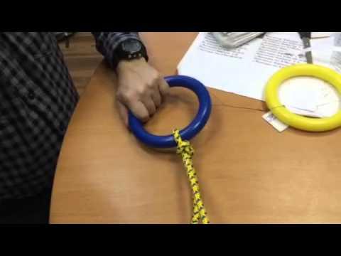 Как привязать кольца на спортивной стенке