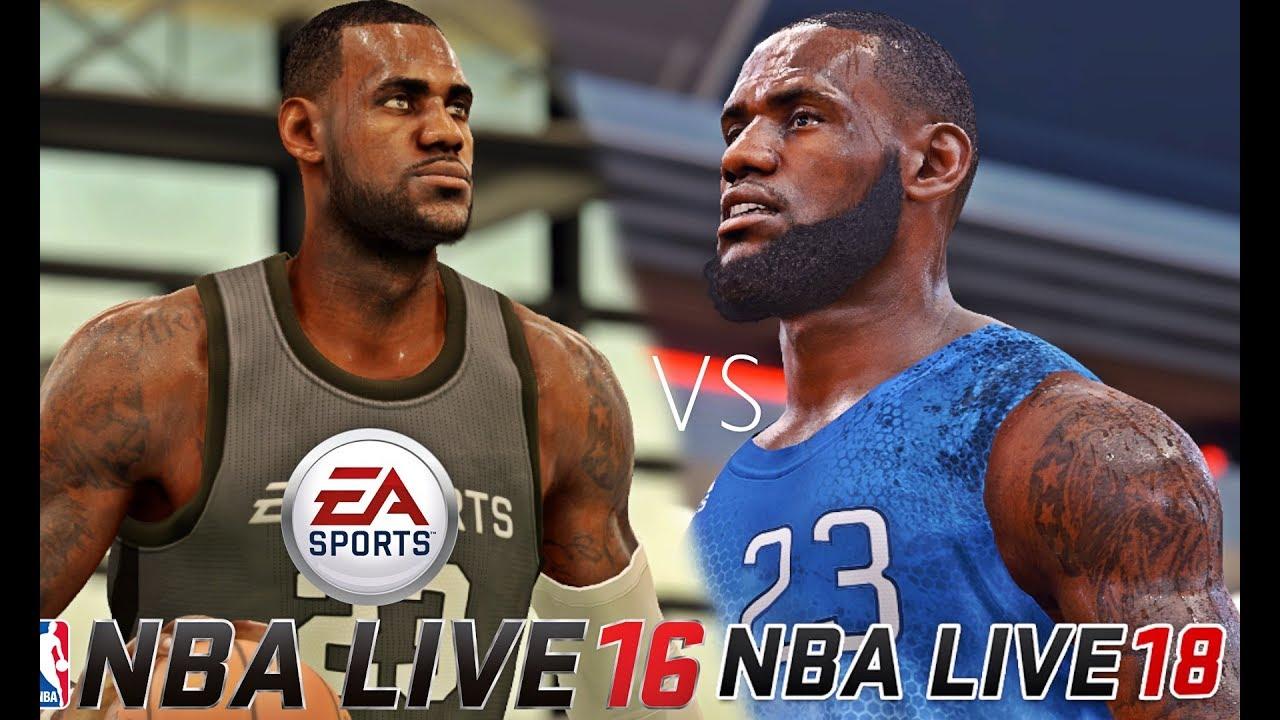a404866e85d7 NBA LIVE 18 Lebron James vs NBA LIVE 16 Lebron James