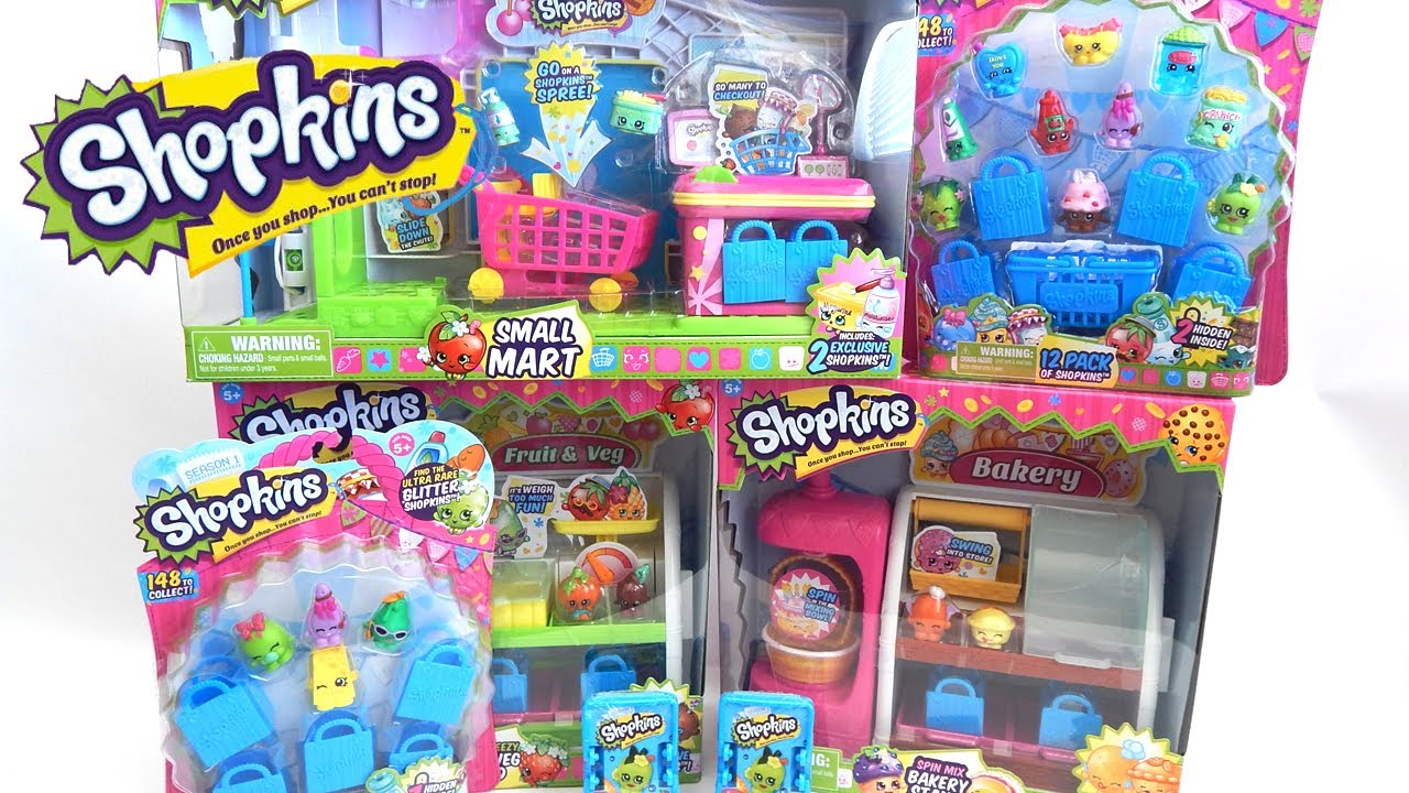 Shopkins toy haul by moose toys blind baskets and playsets youtube