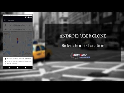 Android Uber Clone - Part 14   Rider set Pickup Location