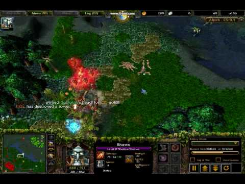 DOTA Warcraft III Frozen Throne Clinkz Amp Rhasta BEST VIDEO