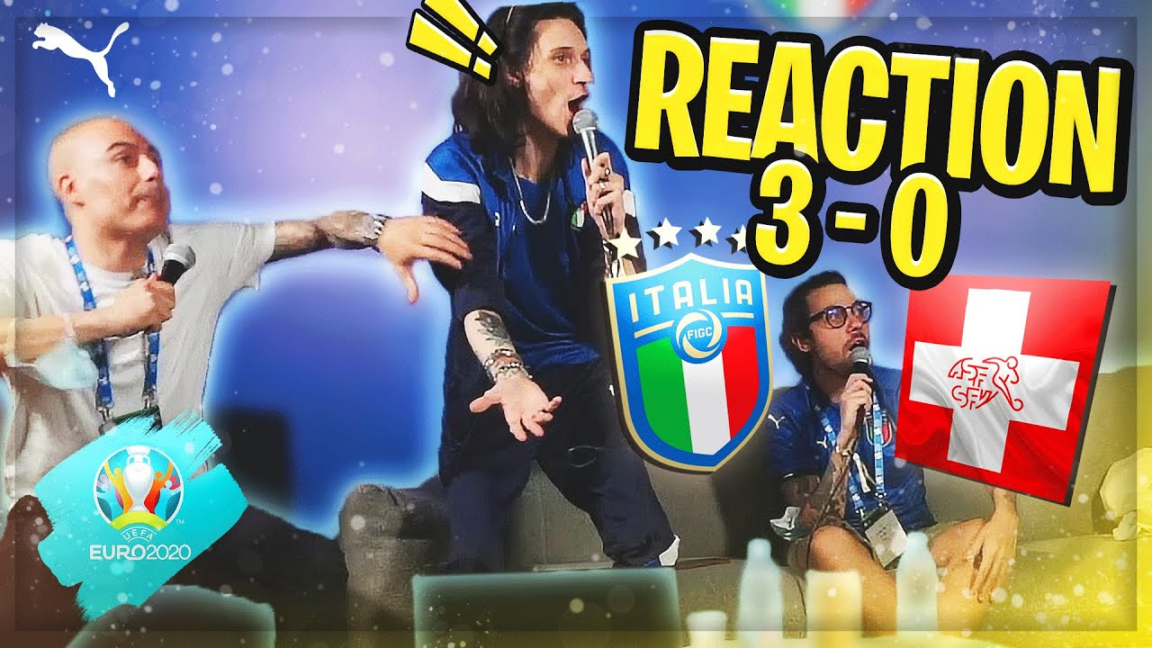 'EURO 2020' REACTION ITALIA - SVIZZERA DA CASA AZZURRI!