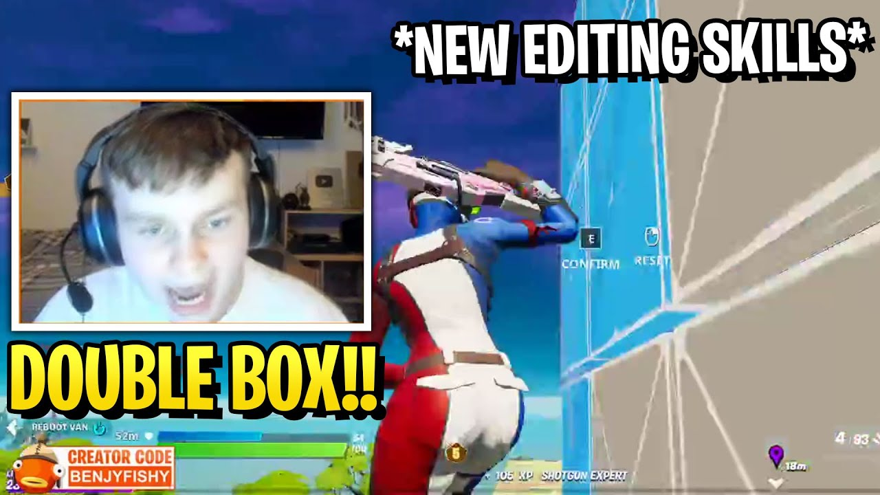 Benjyfishy Shows Stream His New Building Skills! (Double Box Building)